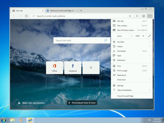 크롬 닮은 차세대 엣지 브라우저, 윈도 7·8에서 사용 가능